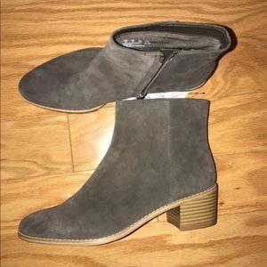 Grey Clark's booties